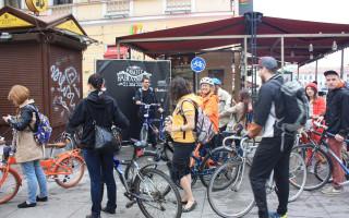 """Всероссийская акция """"На работу на велосипеде"""" в Петербурге"""
