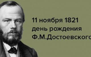 Мероприятия в Петербурге, посвященные Дню рождения Ф. М. Достоевского