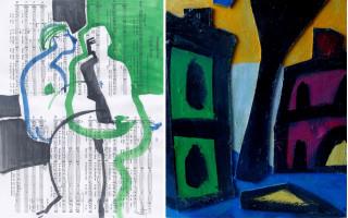 """2 выставки: Анна Зельцман """"На полпути"""" — Григорий Кацнельсон """"Человек с пейзажем"""" в галереи Борей"""