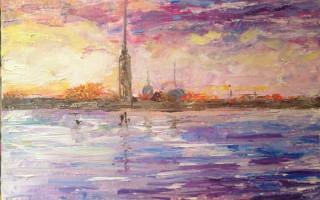 Выставка Алины Галкиной «Пейзаж в пастельных тонах»
