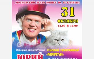 Спектакль Юрия Куклачева «Мяугли»