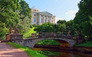 Летний пейзаж Павловского сада, Россия