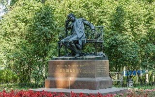 Памятник А. С. Пушкину в Царском селе, Санкт-Петербург, источник фото: Wikimedia Commons, Автор: Florstein