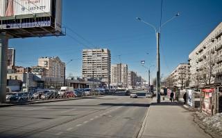 Ленинский проспект на пересечении с проспектом Народного Ополчения, источник фото: Wikimedia Common, Автор: Florstein