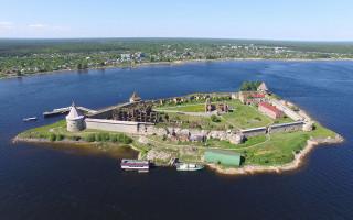 Ореховый остров и крепость Орешек. Фото: Solundir