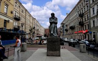 Памятник Достоевскому в Санкт-Петербурге, источник фото: panoramio