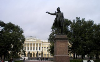Памятник Пушкину А.С.на Площади Искусств, источник фото: http://www.panoramio.com/photo/52826305