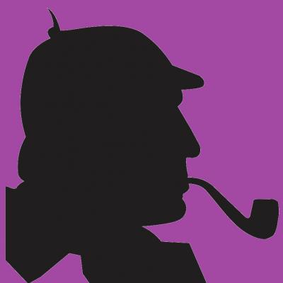 Silhouette Basil Rathbone as Sherlock Holmes. Author of the oryginal file: Rumensz, mirrored file: Electron