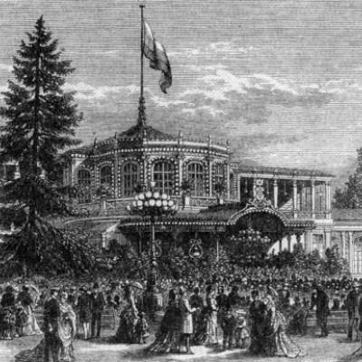 Павловский парк. Площадь гуляний XIX век, автор неизвестен. Автор: Peterburg23, Wikimedia Commons