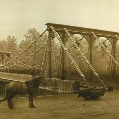 Пантелеймоновский мостик в 1853 году, Иван Бианки. Автор: Butko, Wikimedia Commons