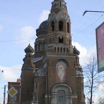 Церковь Воскресения Христова у Варшавского вокзала. Автор: AndreyA,  Wikimedia Commons