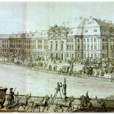 Третий дворец — дворец Анны Иоанновны XVIII век, источник фото: Wikimedia Commons, Автор: неизвестен
