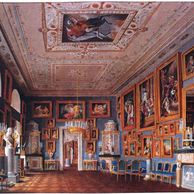 Акварель художника А. А. Редковского. Римский зал. 1867 г., источник фото: https://vk.com/public29176041