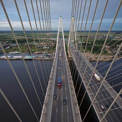 Большой Обуховский мост, один из самых длинных мостов России, источник фото: Wikimedia Commons, Автор: Anton Vaganov