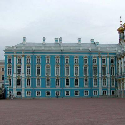Екатерининский дворец, Боковое крыло и домовая церковь. Автор: Stan Shebs, Википедия