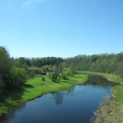 Деревня Хотнежа. Река Лемовжа, источник фото: http://foto-planeta.com/np/95614/hotnezha.html