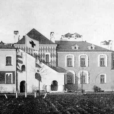 Дом причётников (лазарет), источник фото: Wikimedia Commons Автор неизвестен
