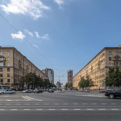 Перспектива Ленинского проспекта от Московской площади, источник фото: Wikimedia Common, Автор: Florstein