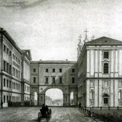 Лицей на рисунке XIX века. Автор:  Ghirlandajo, Wikimedia Commons