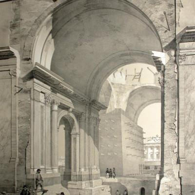 Строительство Исаакиевского собора, источник фото: http://www.isaac.spb.ru/isaac/str