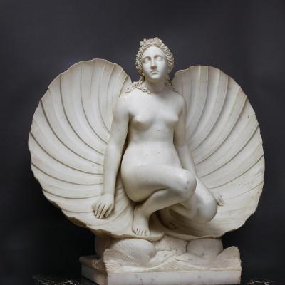 """""""Венера в раковине"""", Карло Финелли, источник фото: http://www.hermitagemuseum.org/wps/portal/hermitage/digital-collection/06.%20Sculpture/56915"""