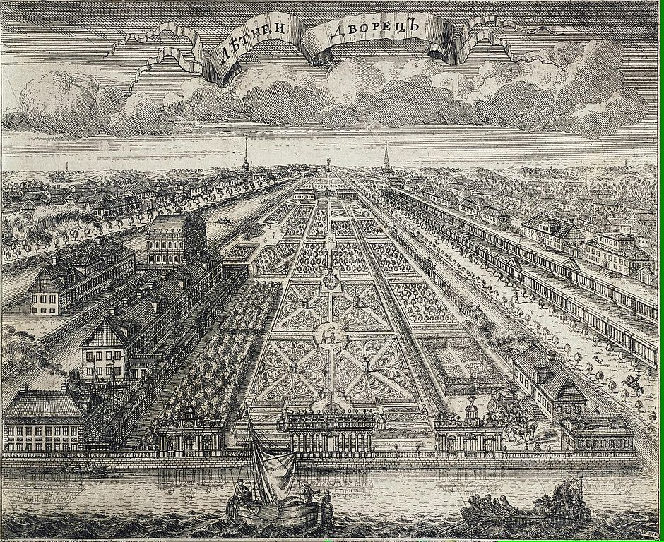 Алексей Зубов Летний сад и Летний дворец, 1716. (Wikimedia Commons)