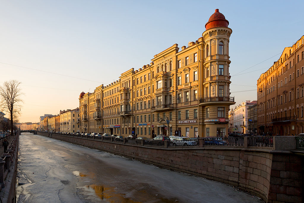 Канал Грибоедова возле Кокушкина моста. Автор фото: Pavlikhin (Wikimedia Commons)