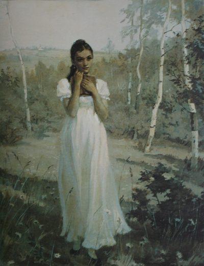 Татьяна в тишине лесов… Автор: Тимошенко Лидия 1950-1955 гг. Источник: evgenij-onegin.ru