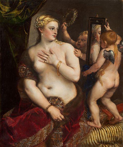 Венера перед зеркалом (картина Тициана), источник фото: Wikimedia Commons