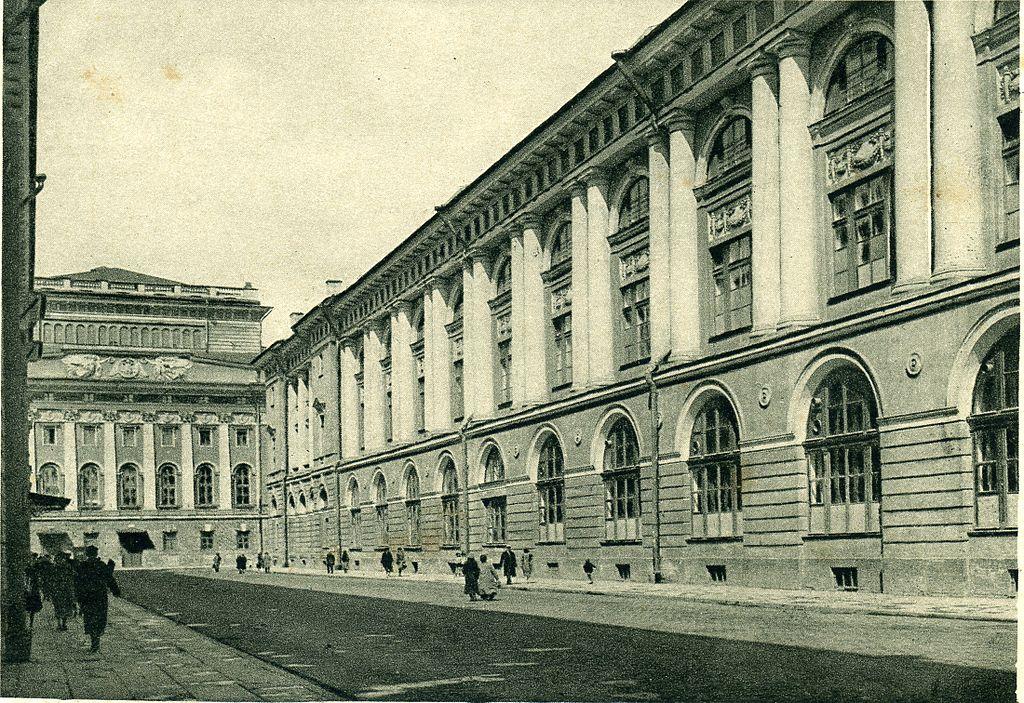 Улица Зодчего Росси на старой открытке. Автор неизвестен. Фото: Wikimedia Commons