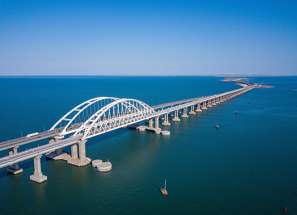 Вид на Крымский мост. Фото: Росавтодор