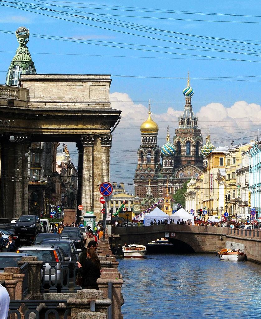 Канал Грибоедова, вид в сторону Спаса на Крови. Автор фото: Tanyaspic (Wikimedia Commons)