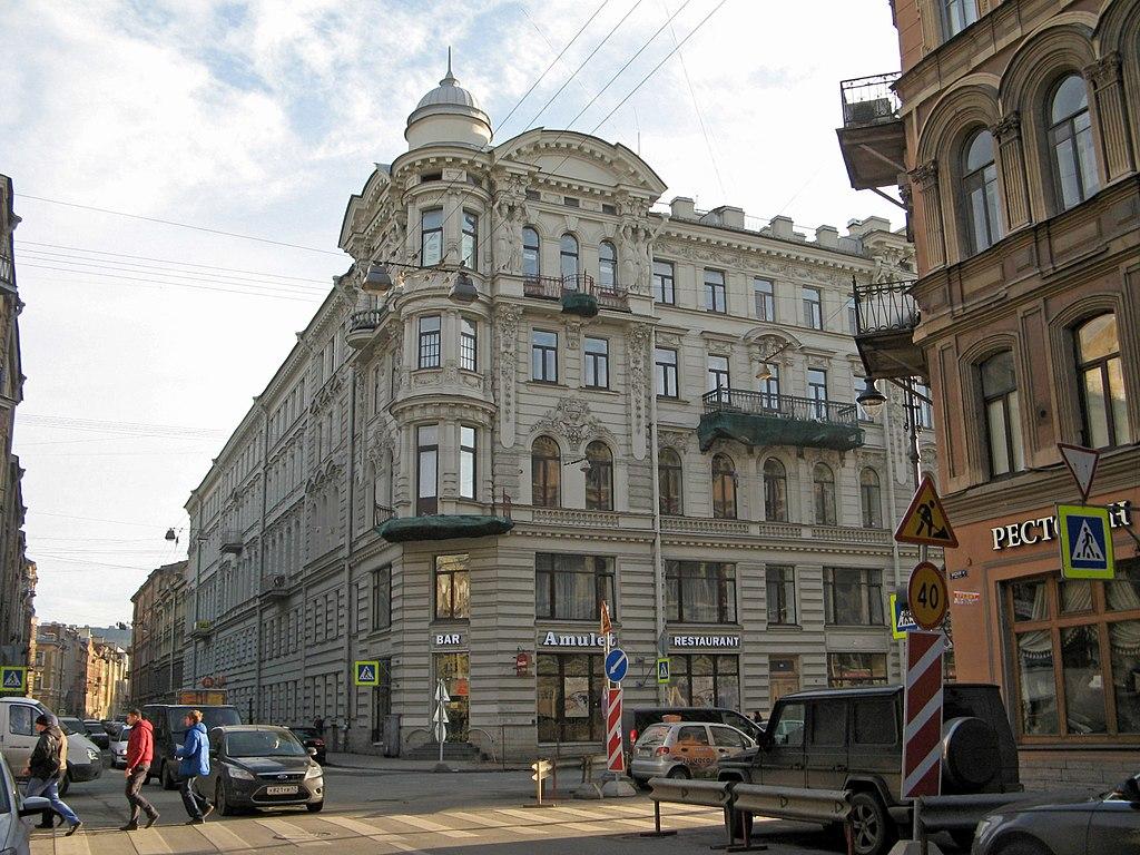 Доходный дом купца Е. С. Егорова, Басков пер., 35. Фото: Екатерина Борисова (Wikimedia Commons)