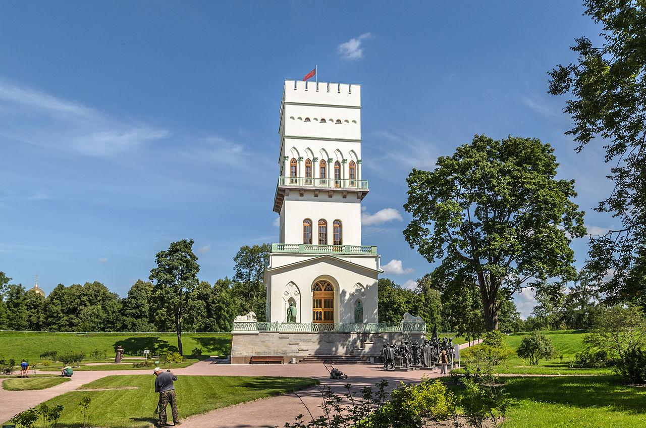 Белая башня в Александровском парке. Автор фото: Florstein (WikiPhotoSpace)
