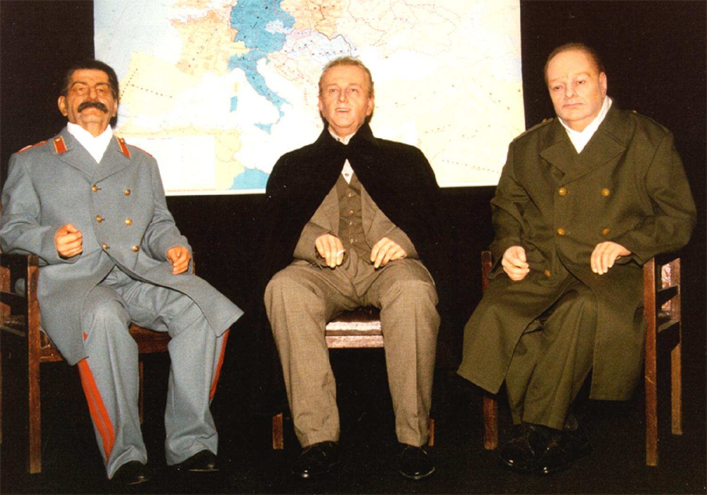 Сталин, Рузвельт, Черчилль. Санкт-Петербургский музей восковых фигур
