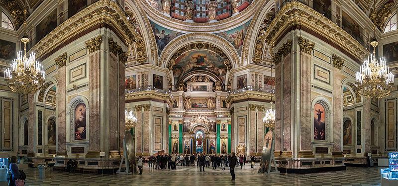 Панорама внутреннего убранства собора, источник фото: Wikimedia Commons, Автор: Ximeg